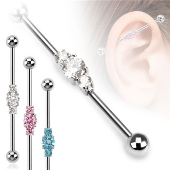 Surgical Steel Three Linked Czs Industrial Barbell