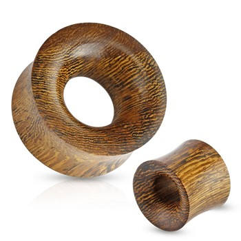 Pair Of Concave Hollow Saddle Fit Snake Wood Organic Tunnels