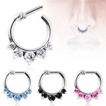 Surgical Steel Gemmed Princess Septum Clicker