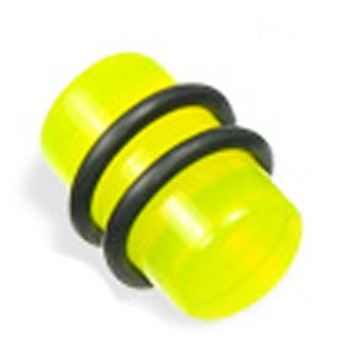 UV Acrylic Plug, Color:Light Green