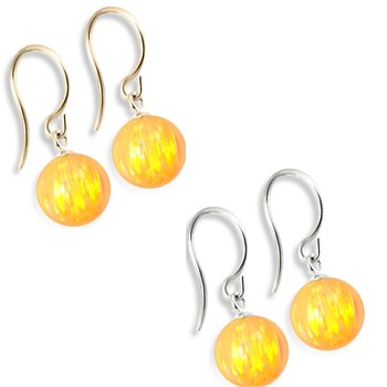 14K (Nickle Free) Gold Opal Earrings, Yellow