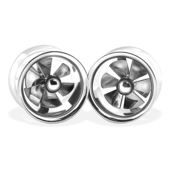 Pair Of Spinner Double Flare Steel Tunnels