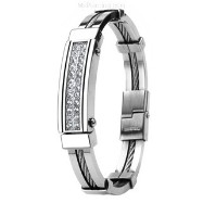 316L Stainless Steel & Wire Bracelet/ Gems