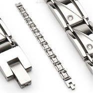 316L Stainless Steel Bracelet/Clear Stones