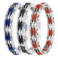316L Stainless Steel & Rubber Bracelet