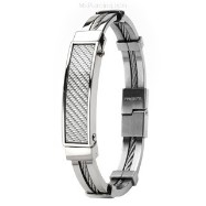 316L Stainless Steel Bracelet/White Carbon Fiber