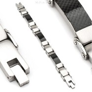316L Stainless Steel Bracelet/Black Carbon Fiber