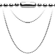 "20"" Medium Steel Ball Chain Necklace"