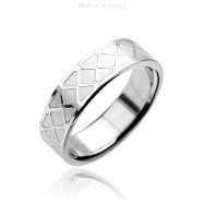 316L Stainless Steel Ring. Checker