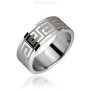 Surgical Steel Maze Pattern Ring