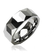 Tungsten prism ring