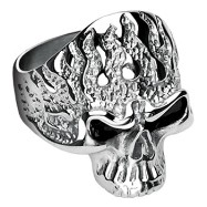 316L Surgical Stainless Steel Flam'in Skull Ring