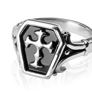 316L Surgical Stainless Steel Rings/Celtic Cross