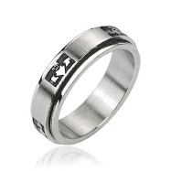 316L Stainless Steel 'Claddagh' Crowned Holding Heart Center Spinner Ring