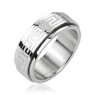 316L Stainless Steel Tribe Maze Center Spinner Ring