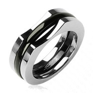 Solid Titanium with a Two Piece IP Black Ring