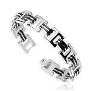 316L Stainless Steel Bracelet with 4 Small Chain Design And Plated Links