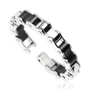 316L Stainless Steel Duo Tone Bicycle Link Bracelet