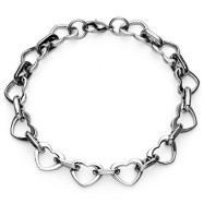 316L Stainless Steel Multi-Link Heart Bracelet