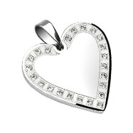 316L Stainless Steel Gem Paved Heart Frame