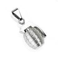 316L Stainless Steel Hand Grenade Solid Pendant