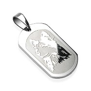 316L Surgical Steel Dog Engraved Pendant