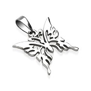 316L Surgical Steel Butterfly Pendant