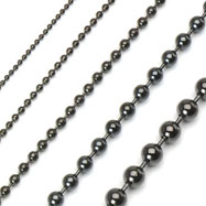 PVD Black Over 316L Stainless Steel Ball Chain Necklace