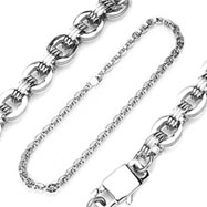 316L Stainless Steel Three Layer O Ring Chain