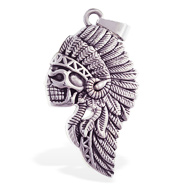 Alloy indian skull pendant