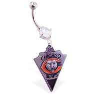 Belly Ring with official licensed NFL charm, Chicago Bears