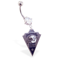 Belly Ring with official licensed NFL charm, Indianapolis Colts