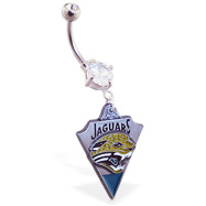 Belly Ring with official licensed NFL charm, Jacksonville Jaguars