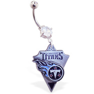 Belly Ring with official licensed NFL charm, Tennessee Titans