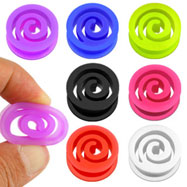 Pair Of Flexible Silicone Spiral Saddle Plugs
