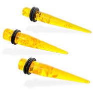 Synthetic Acrylic Amber Taper