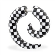 Fake 2 gauge checkered spiral taper, 16 ga