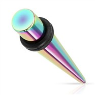 Titanium anodized rainbow taper