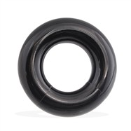 "Black Acrylic Segment Ring, 00 Ga,Diameter:3/4"" (19Mm)"