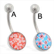 Flower Logo Belly Ring