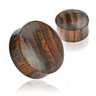 Pair Of Solid Organic Sono Wood Saddle Plugs