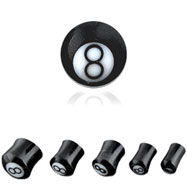 Pair Of Buffalo Horn 8 Ball Saddle Plugs