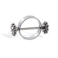 "Flower Nipple Ring, 16Ga, Inside Diameter 9/16"" (14Mm)"