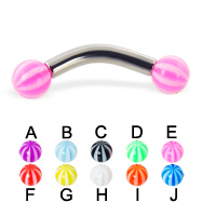Beach ball curved barbell, 10 ga