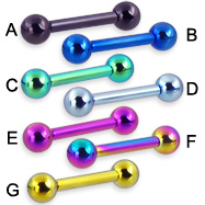 10 ga titanium anodized straight barbell