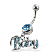 Baby belly button ring