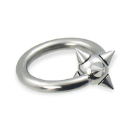 Viking captive bead ring, 10 ga