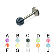 Beach ball titanium labret, 16 ga