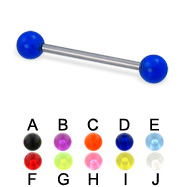UV ball titanium straight barbell, 16 ga