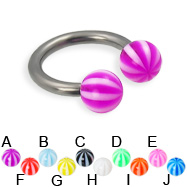 Beach ball titanium circular barbell, 12 ga